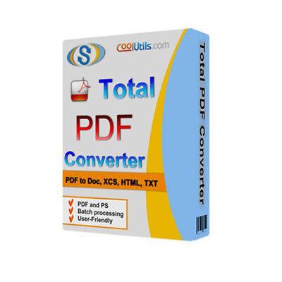 Total Pdf Converter V6 1  Pdf To Word Converter Software 2018   Digital Download