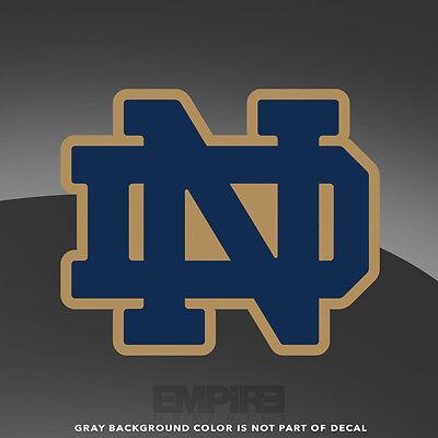 Notre Dame ND Fighting Irish Logo Vinyl Decal Sticker - 4