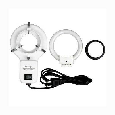 Amscope Frl8-a 8w Stereo Microscope Fluorescent Ring Light Adapter