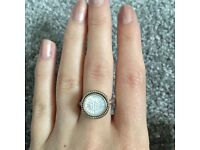 Pandora silver and mother of pearl ring - size 50
