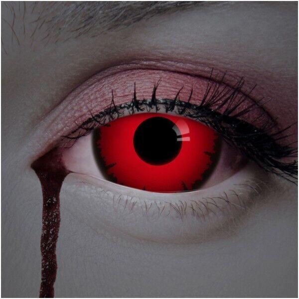 aricona Farblinsen rote Sclera Kontaktlinsen 17mm 2er Set farbige Jahreslinsen