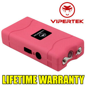 VIPERTEK Stun Gun PINK VTS-880 15 Million Volt Mini Rechargeable LED Flashlight