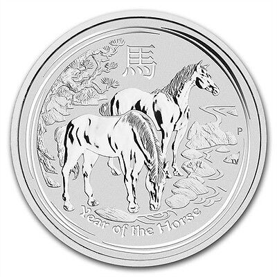 Perth Mint Australia $1 Lunar Series II Horse 2014 1 oz .999 Silver Coin