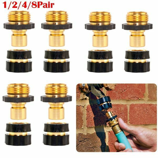 """Garden Hose Quick Connect Water Hose Fit Brass Female Male Connector 3/4"""" US"""
