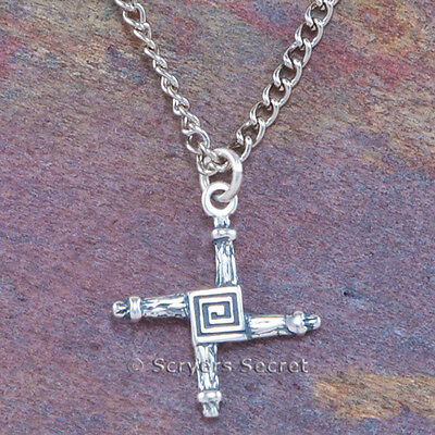 925 Sterling Silver St  Brigids Cross Brigit Celtic Charm Pendant   Necklace