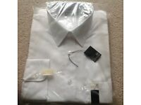 """Mens White Shirt 16"""" New in packaging First Avenue brand new"""