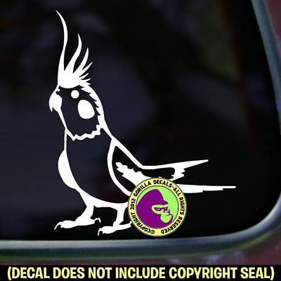 Cockatiel Vinyl Decal Sticker Bird Love Breeder Crazy Car Window Bumper Sign