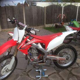 HONDA CRF 450 not Kxf Yzf ktm rmz 250