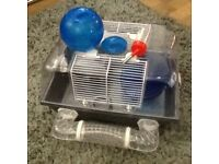 Small hamster cage with everything needed!! Just need hamster!