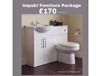 Impakt Furniture Package includes Basin and Toilet