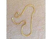 18ct gold solid necklace