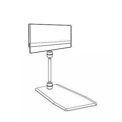 Set Of 10 Stand Alone Plastic Price Info Holder Label Insert A7 4.2x2.7