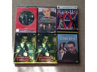 6 Russian Movies DVDS