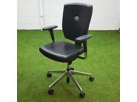 Black Senator Sprint Leather Chair
