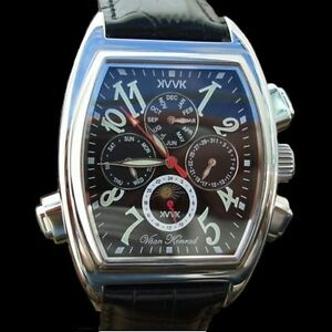 AUTOMATIC-MENS-VAAN-KONRAD-KORSAIR-NOIR-21-JEWEL-SUN-MOON-DIAL-WATCH-BLACK-FACE