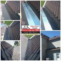 Réparation de toiture de bardeaux couvreur