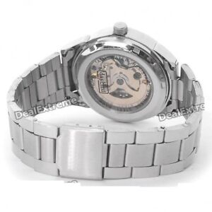 Mechanical Skeleton Automatic Mens watch Bracelet Chain NEW