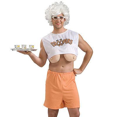 DROOPERS waitress STAG FANCY DRESS w/ fake saggy - Droopers Fancy Dress Kostüm