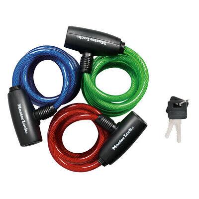 Master Lock Bike Lock/Cable Ka Asst Colors Red Blue Green Pa