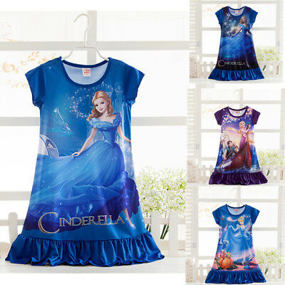 Girls Dress Cinderella Princess Dresses for Girls Night Gown Pajamas Sleepwear - Princess Night Gown