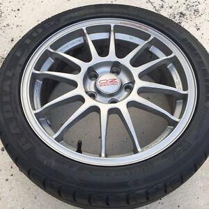 OZ Superleggera wheels with tires