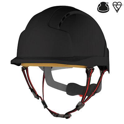 JSP EVOlite Skyworker black industrial climbing safety helmet hard hat