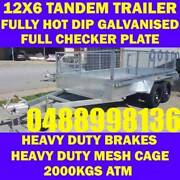 12X6 FULLY GALVANISED TANDEM TRAILER CRATE CAGE BOX TRAILER sa Elizabeth West Playford Area Preview