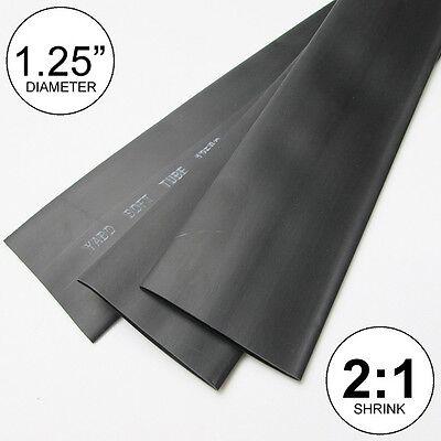 1.25 Id Black Heat Shrink Tubing 21 Ratio 1-14 Wrap 2 Feet Inchftto 30mm