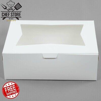 10 Pack 19 X 14 X 6 12 White Half Sheet Cake Bakery Box Window Paperboard