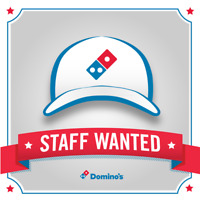 Domino's Pizza Now Hiring! Part Time Workers Wanted!