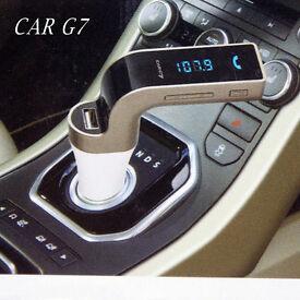 7 Bluetooth Car Kit Handsfree car FM Transmitter Radio MP3 Player USB Charger