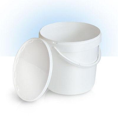 10 x 10L  Eimer  | WEISS | leer | Kunststoffeimer mit Deckel | Lebensmittelecht ()