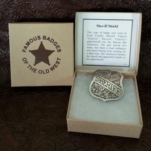 Old West Obsolete Sheriff (Shield) Badge