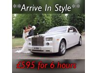 Rolls Royce Phantom Hire - Wedding Car Hire - Chauffeur Car Hire - Limousine - London