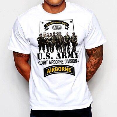 Military T-Shirt 101st Airborne DIV Paratrooper Machine Gunner Infantry Veteran