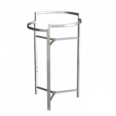 Tri-level Round Garment Rack Chrome Height Adjustable From 44 -68 4setsbuy