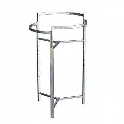Tri-level Round Garment Rack Chrome Height Adjustable From 44 -68 4setsbuy