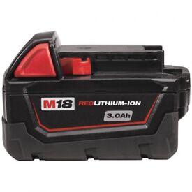 Milwaukee 3ah 18v battery £30 ono