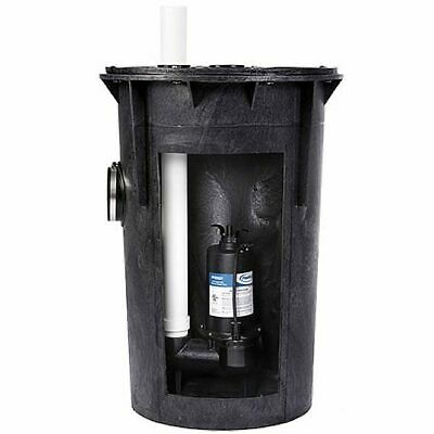 Proflo Pf93015 - 12 Hp Cast Iron Sewage Pump System 2 W Tether Float Switch