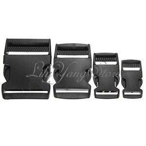 Black-Plastic-Side-Quick-Release-Clasp-Buckles-Webbing-Cord-Strap-20-25-40-50mm