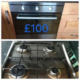 Indesit Gas hob & electric oven