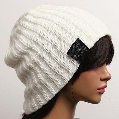 Winter Unisex men's women's Ribbed Beanie cdrochet hat skull Top cap ski knit tq