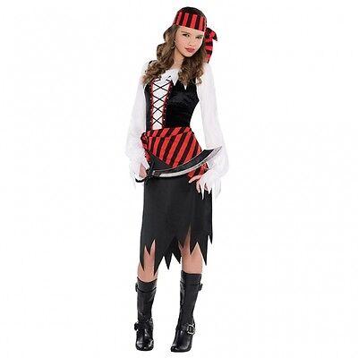 Kinder Halloween Pirat Kostüme (Piratin Kostüm Gr. 158 Pirat Bucaneer Karneval Mädchen Kinder Teeny Halloween)