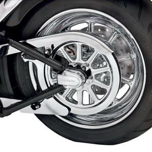 Axle cover arriere Chrome Harley softail 08+