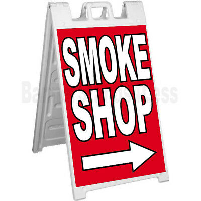 Signicade Smoke Shop A-frame Sign Sidewalk Pavement Banner Street Sign - Rb