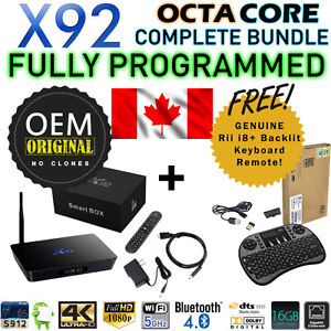 ★X92 Android TV Box IPTV OEM Amlogic OCTA Core + Keyboard★