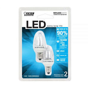 Feit Electric Accent Led White Night Light Bulb Bpc7 Led