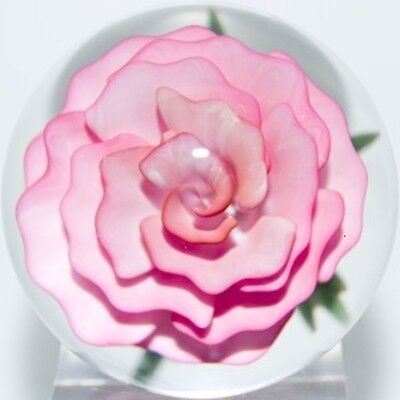 "JOHN KOBUKI  ROSE Flower, 1 3/4 "" Marble = 4.445 cm beautiful & mint condition"