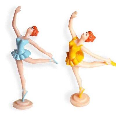 Ballerina Cake Topper Blue or Yellow Figurine 5