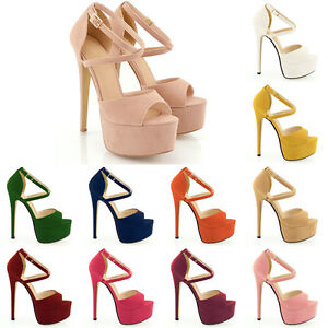 HOT-NEW-PEEP-TOE-STRAPPY-PLATFORM-FAUX-SUEDE-HIGH-HEELS-SANDAL-SHOES-SIZE-4-11